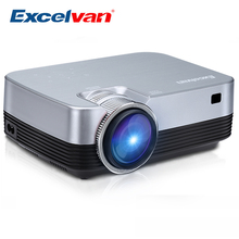 Excelvan Q6 Mini Portable LED Projector 1800Lumen Touch Panel Multimedia Video Projecyor Support 1080P HDMI VGA USB Home Theater