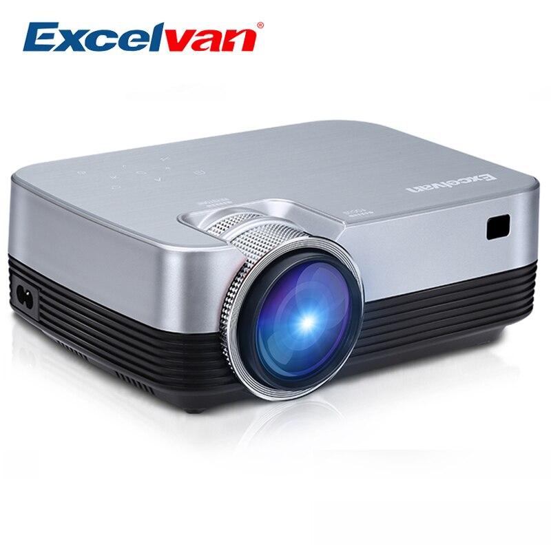Excelvan Q6 portátil Mini proyector LED 1800 Lumen Panel táctil Multimedia Video Projecyor soporte 1080 P HDMI VGA USB a casa teatro