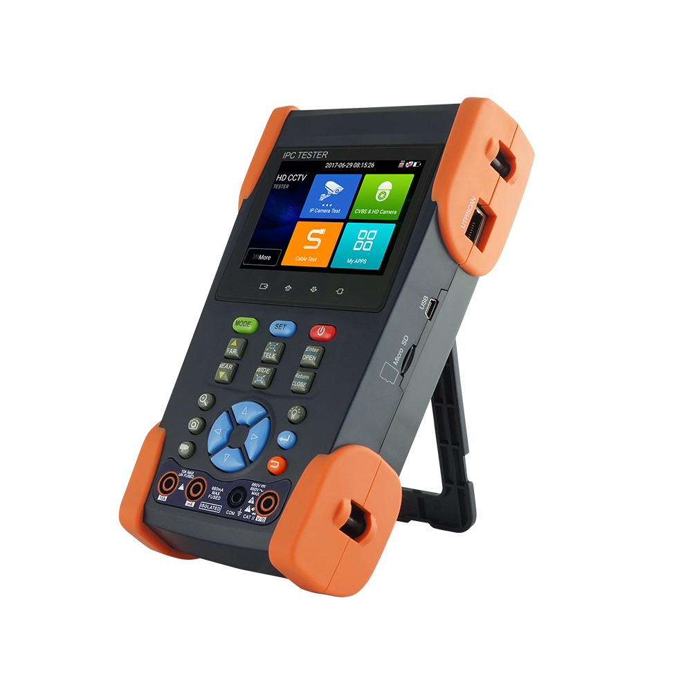 Upgraded CCTV Tester IPC3500 Plus H.265 4K IP Analog Camera Tester Monitor With WIFI PoE Cable Tracer Digital Multimeter