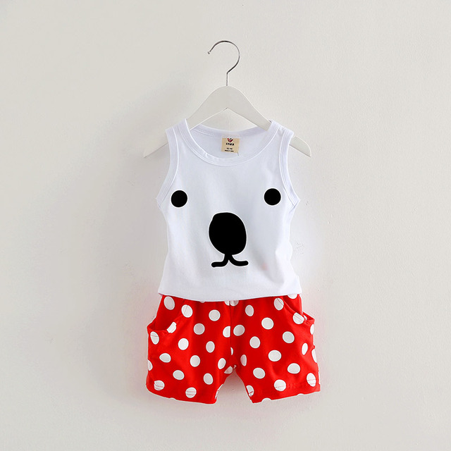 2016 summer new casual style boys two-piece sets girls clothing set baby child vest shorts sets A1351