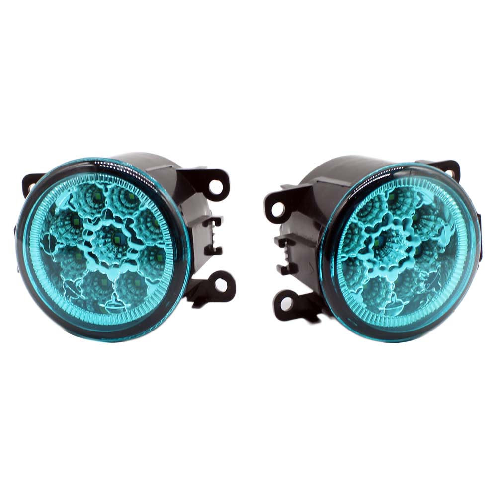 2pcs Car Styling Round Front Bumper Led Fog Lights Drl