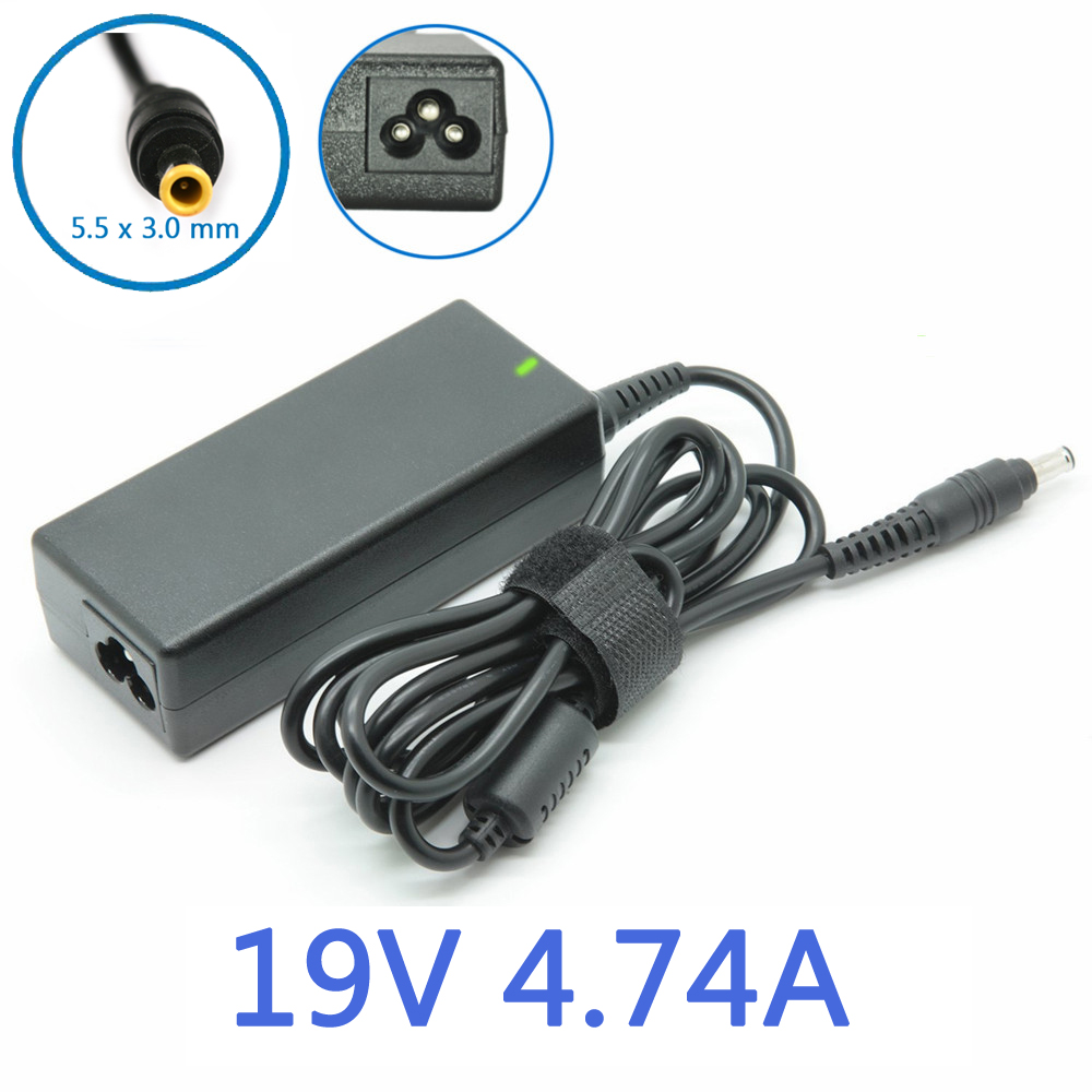 19V 4.74A 90W 5.5x3.0mm Uniersal AC DC Power Supply Adapter Charger for