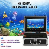 Outlife 9 Inch Monitor 15M 1000TVL Fisch Finder Unterwasser Angeln Video Kamera 30 stücke LEDs Wasserdicht Fisch Finder CMOS sensor-in Fischfinder aus Sport und Unterhaltung bei