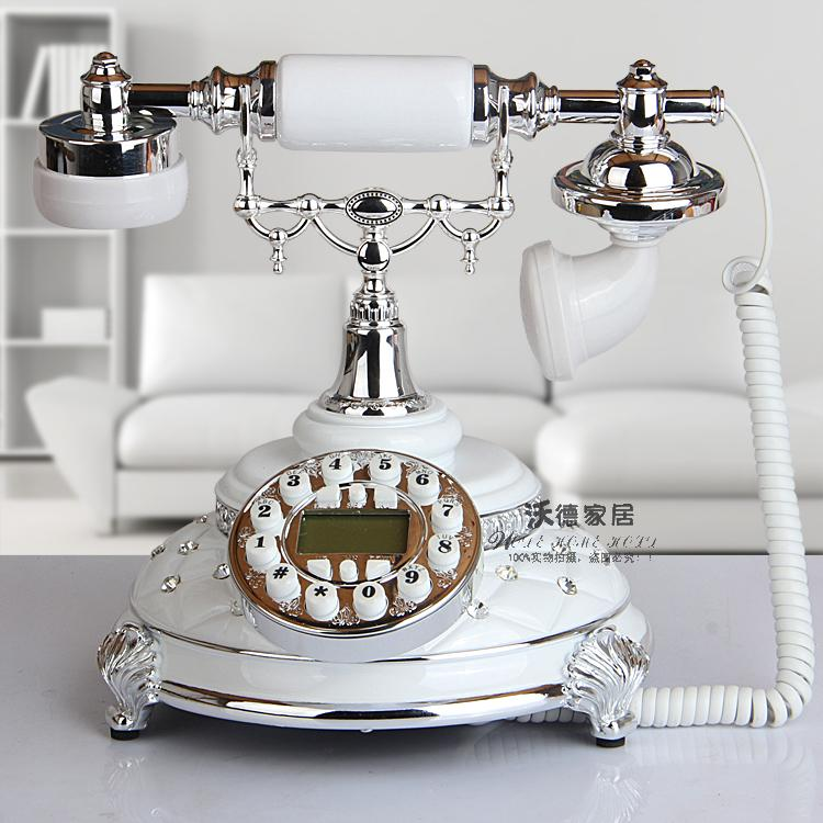The new European antique    landline retro fashion white brick phone telephone