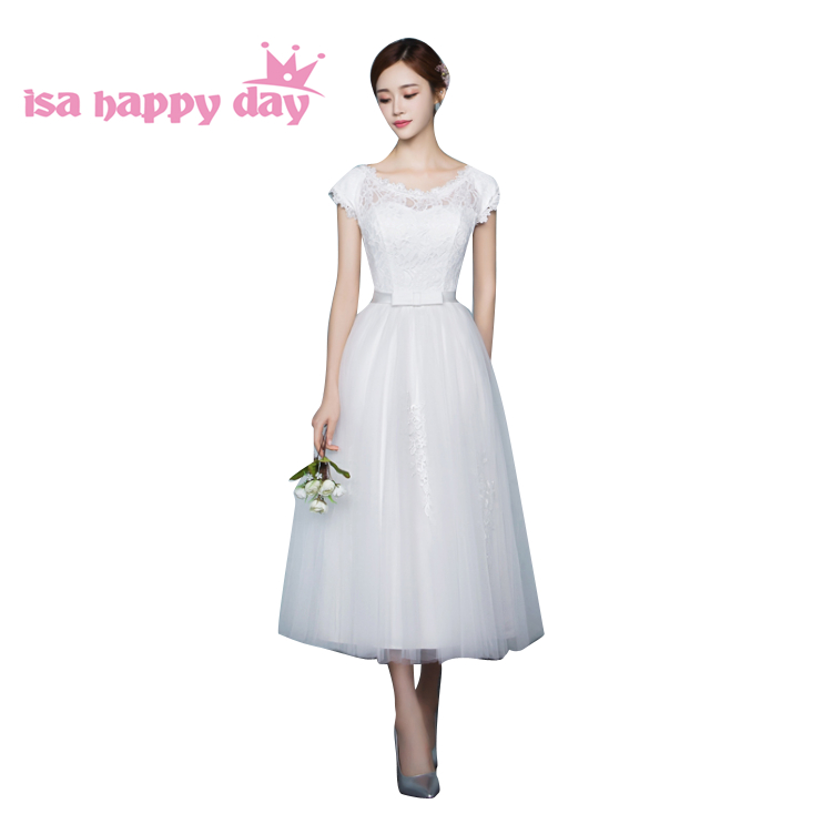 short bridemaid ivory women   dress   cute modest girls   bridesmaid   o neck brides maid ball   bridesmaids     dresses   under $50 B3997