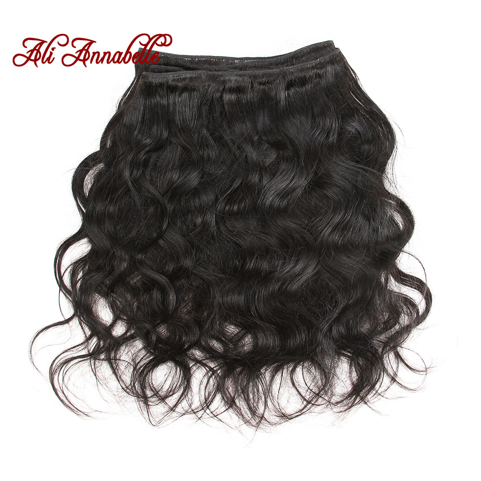 HTB1qy5fDER1BeNjy0Fmq6z0wVXaY ALI ANNABELLE HAIR Brazilian Body Wave Remy Human Hair Bundles With Closure Brazilian Human Hair Weave Bundles with Closure
