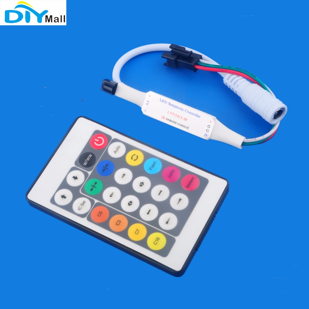 Адресуемый WS2812 5050 8X32 пикселей гибкий RGB светодиод матрица панель + DC5V 20A 100 Вт Трансформатор питания + инфракрасный светодиодный контроллер - 5