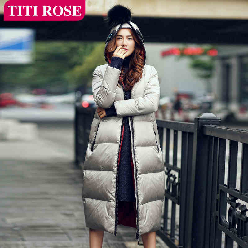 2015 New Hot Winter Thicken Warm Woman Down jacket Coat Parkas Outerwear Hooded Fashion Straight Long Plus Size Luxury High-end