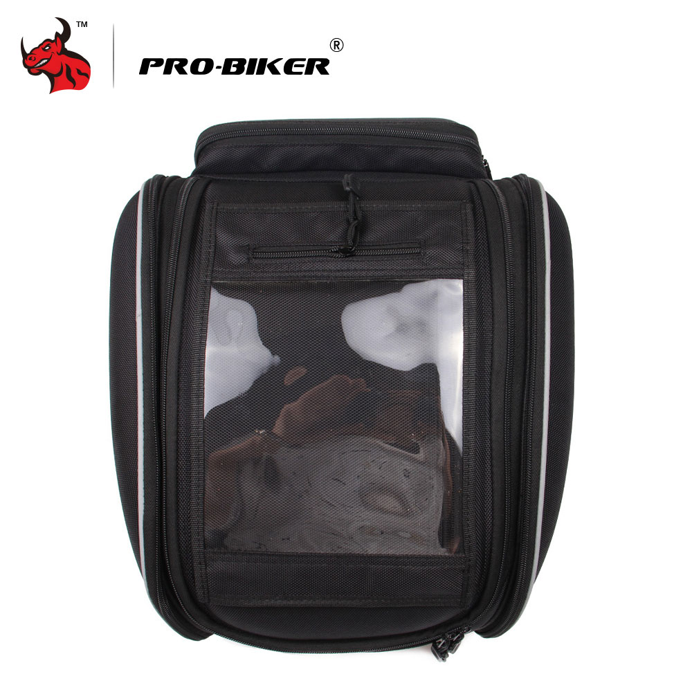 PRO BIKER Motorbike Magnetic Oil Fuel Tank Bags Multifunction Backpack Tool Bag Motorcycle Riding Racing Travel