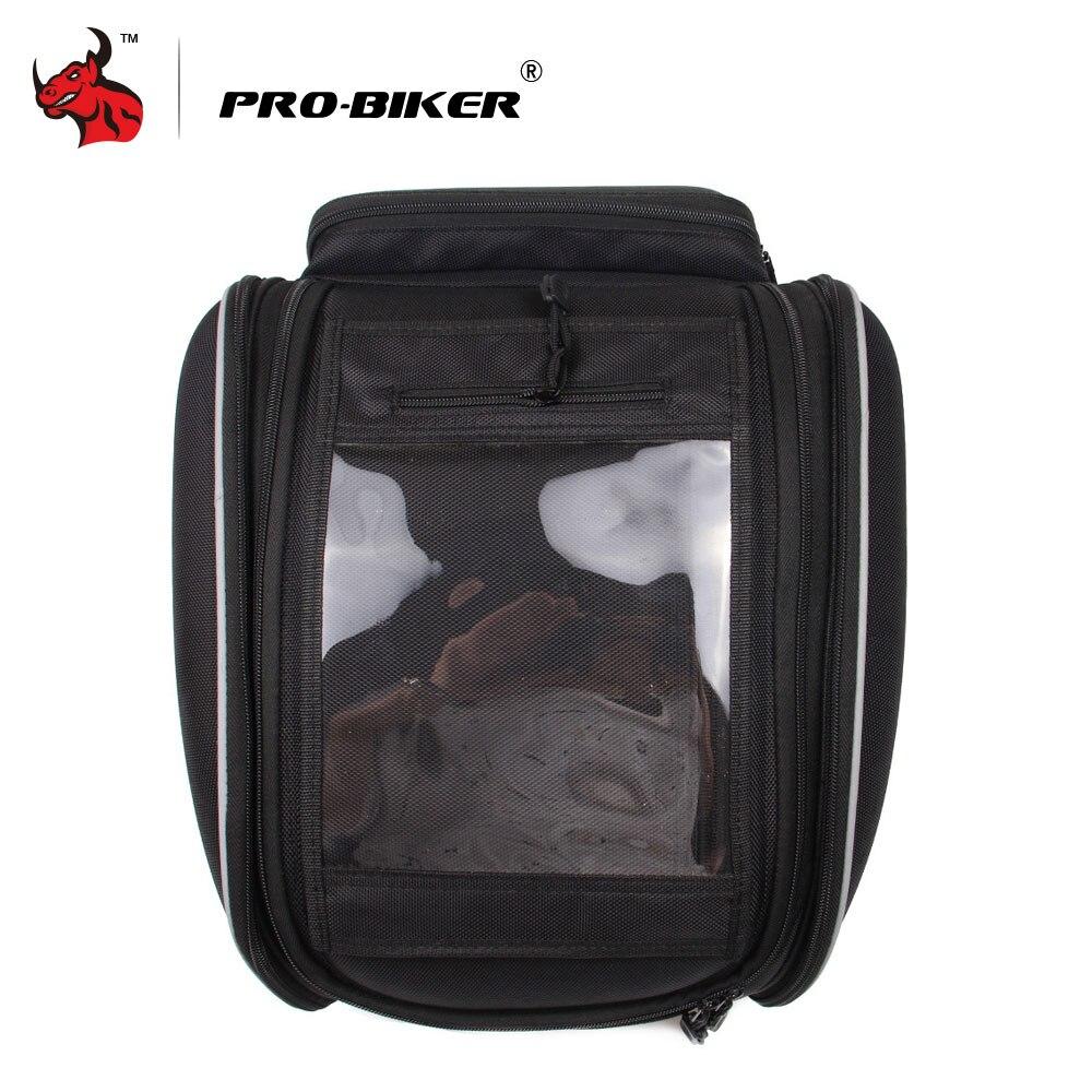 PRO-байкер мотоцикл Магнитная масла топливный бак Сумки Многофункциональный рюкзак сумка для инструмента мотоциклетные гоночный путешеств...