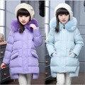 Девушки зимнее пальто детские вниз пальто девушки верхняя одежда и пальто cuhk 2016 Моды ребенок пуховик девушка теплые парки