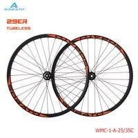 OEM MTB Колесная 29er MTB Колесная горный велосипед 40 мм ширина углерода колеса hookless MTB колеса с Новатек концентратор