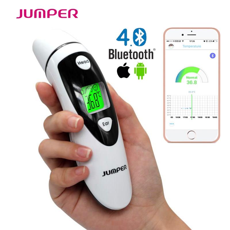 Bluetooth Dual-Mode Oreille et Front Médical LCD Numérique Infrarouge Thermomètre bébé enfants Adulte Température termometro de mercurio