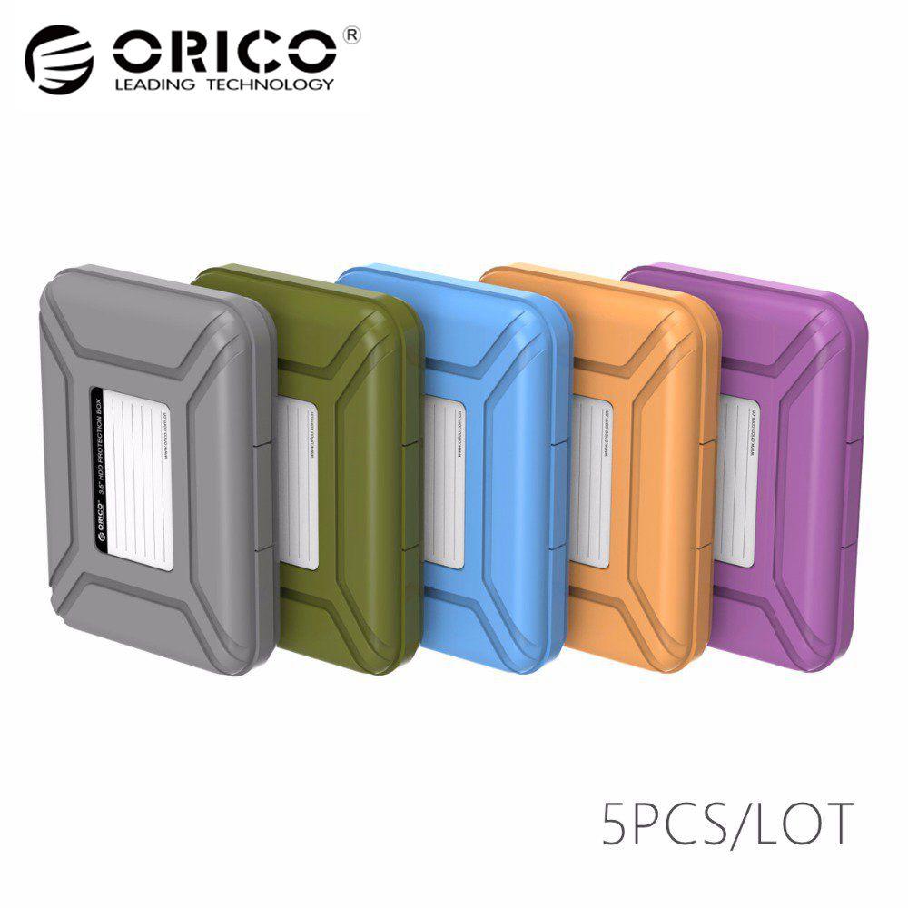 ORICO PHX-35 Simple caja de protección de disco duro cubierta del caso para 3,5 HDD caso función impermeable (5 piezas por paquete)