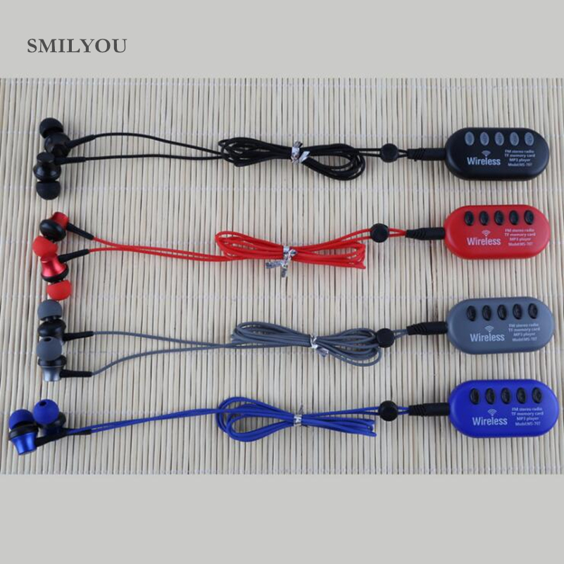 SMILYOU Wireless Bleutooth Earphone MP3 Player Stereo FM Radio TF Card Bleutooth Earphones Noise Cancelling With Mic For Phone smilyou wireless bluetooth earphone headset with mic casque audio bluetooth oreillette support fm radio tf for phone pc head