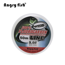 Angryfish Fluorocarbon Fishing Line  50m transparent Super strong