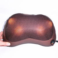 car home infrared heating massager pillow kneading neck cervical traction back shoulder pain relief vibrating massage cushion