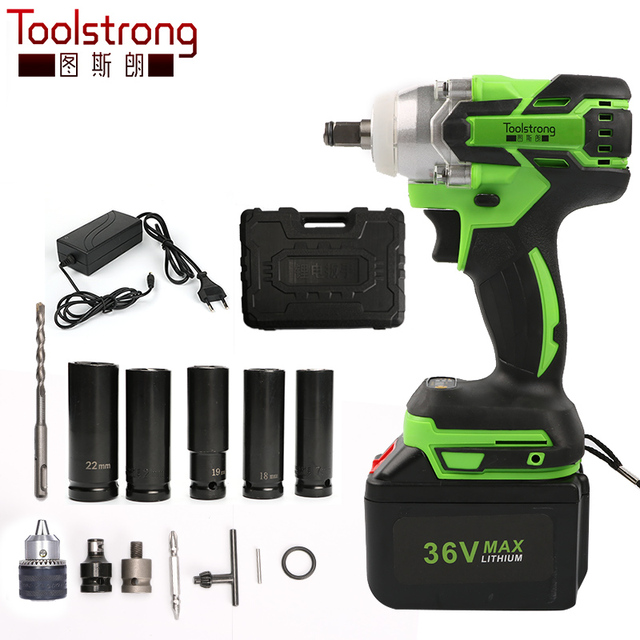 Toolstrong Torque 320nm Brushless Cordless Electric Wrench Impact Socket Driver Installation Tool Iw01b