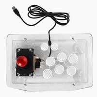 Transparent Arcade Joystick Video Game Fighter Stick Tower With USB For Computer TV Box Joystick Arcade Game Controller Rocker