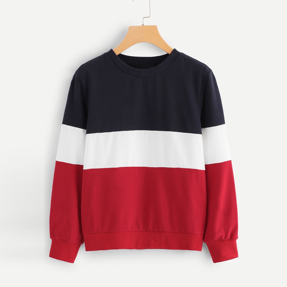 Hoodies Sweatshirt Women Harajuku Gothic Color Block Hoodie Clothes 2018 Autumn Women Fashion Kawaii Korean Tops Moletom