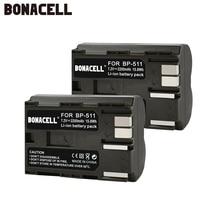 Bonacell 2200mAh BP-511 BP-511A BP 511A for Camera Battery BP511 BP 511 For Canon EOS 40D 300D 5D 20D 30D 50D 10D G6 L10 все цены