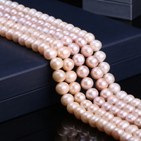 Natural Freshwater Cultured Pearls Beads Round 100% Natural Pearls for Jewelry Making Necklace Bracelet 15 Inches Size 11 12mm