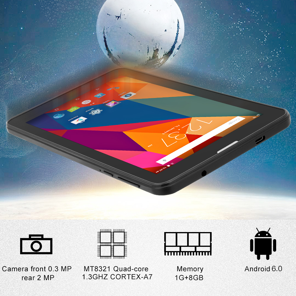 black Yuntab 7inch E706 Android 5.1 Tablet Pc Quad Core Cortex A7 With Dual Camera Support Dual Sim Card 2500mah Battery Computer & Office