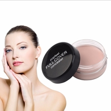 C oncealer with brushed face contour covering dark circles acne spots, simple cream massage