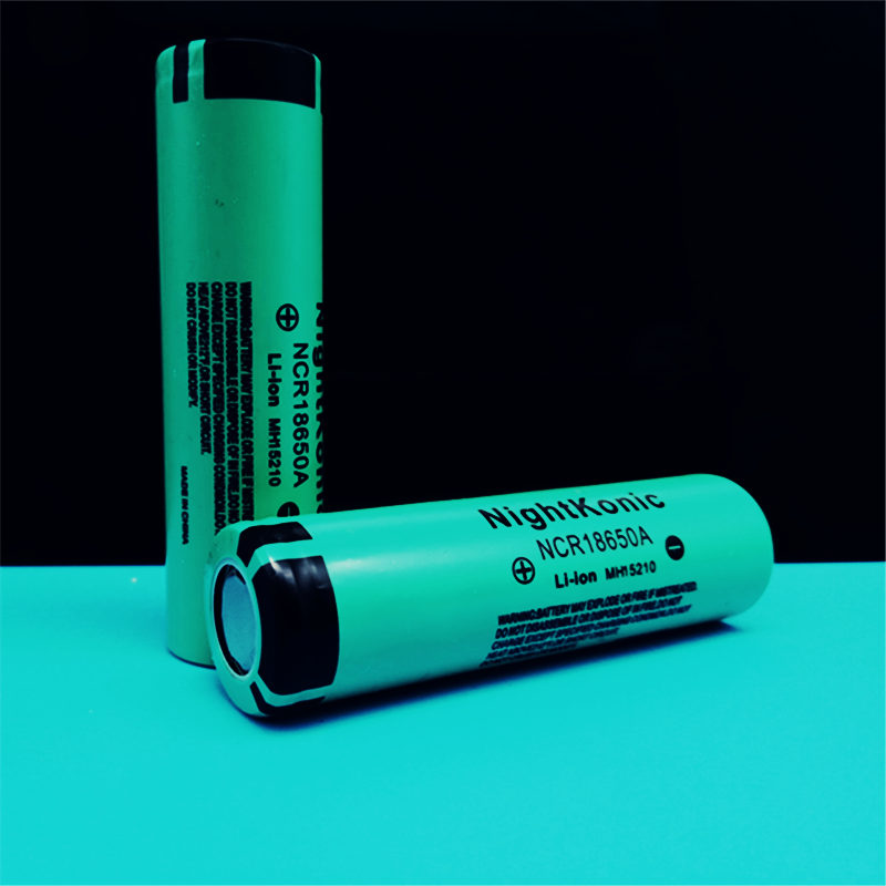 Original NIGHTKONIC 8 PCS LOT 3 7V 2000mAh Li ion 18650 Rechargeable battery GREEN in Replacement Batteries from Consumer Electronics
