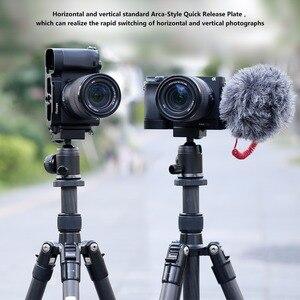 Image 3 - UURIG R006 ソニー A6400 6300 A6100 Vlog クイックリリース L プレート Veritical ブラケットとコールド靴マイク用