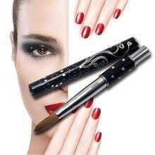 1 шт., уф гель для ногтей Eval PRO, чистый колонок, акриловая кисть для рисования ногтей, инструменты для ногтей с металлической ручкой 8 #10 #14 #16 #18 #20 #