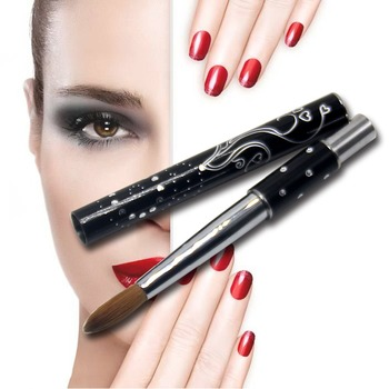 1PC Eval PRO UV Gel Nail Pure Kolinsky Sable Acrylic Nail Painting Brush Nail Tools Metal Handle 8# 10# 14# 16# 18# 20# osaka acrylic nail kolinsky brush 14