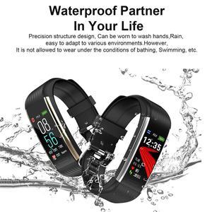 Image 3 - Смарт часы R1 для мужчин и женщин, фитнес трекер с функцией измерения пульса и давления, спортивные наручные часы для Ios, Android, PK, Mi Band 4