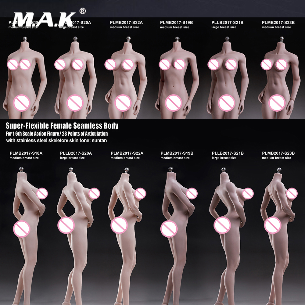 1/6 Scale Female Body Super-Flexible Seamless Body With Skeleton Seamless Collection Model  Not Included Clothes And Head