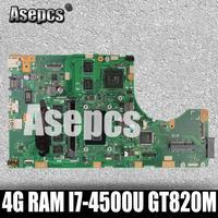 Asepcs TP550LD Laptop motherboard for ASUS TP550LD TP550LA TP550L TP550 Test original mainboard DDR3L 4G RAM I7 4500U GT820M