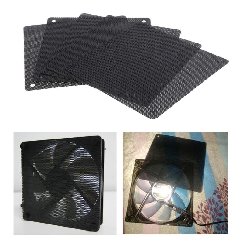 5Pc Computer Mesh PVC Case Fan Dust Filter Dustproof Cover Chassis Dust Cover T3LB