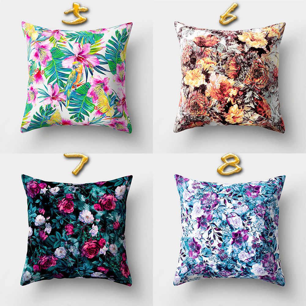 45*45 سنتيمتر ملون الزهور و النباتات تغطي مربع الزفاف الزخرفية رمي الوسائد وسادة وسادة القضية 16 ألوان