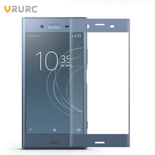 Vrurc For Sony Xperia XZ1 G8342 Screen Protector 3D edge Full Cover Tempered Glass For Sony XZ1 Protective Film