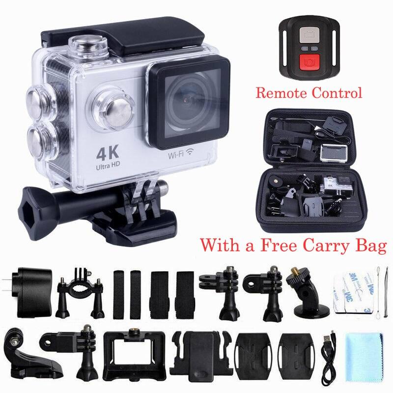 Caméra d'action Wifi H9R Ultra FHD 4 K 25FPS 30 M étanche 1080 p 60fps sous-marine aller à distance extrême pro sport cam