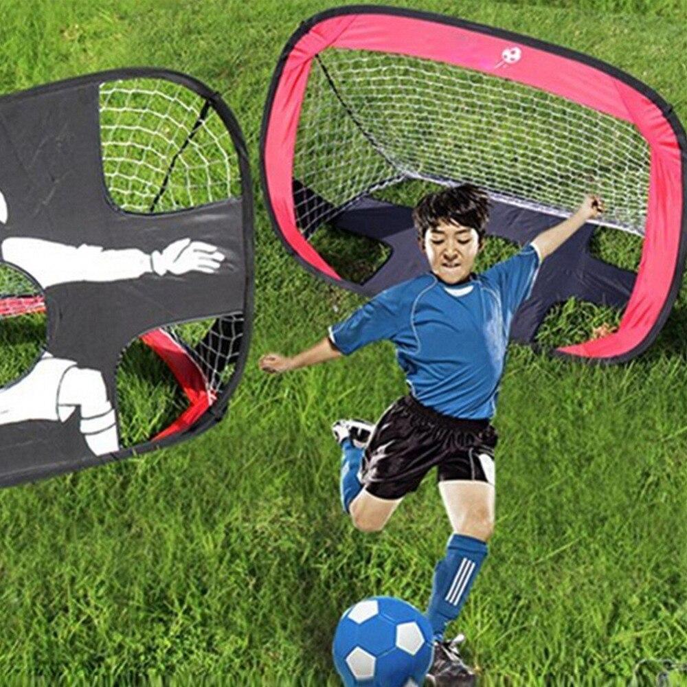 Bambini Pop-Up Calcio/Calcio Toy Cancello Ragazzi 210D Oxford Generico cancello di Calcio di Calcio Obiettivi Pop Up Tenda Netto Bambini Giochi All'aperto giocattolo