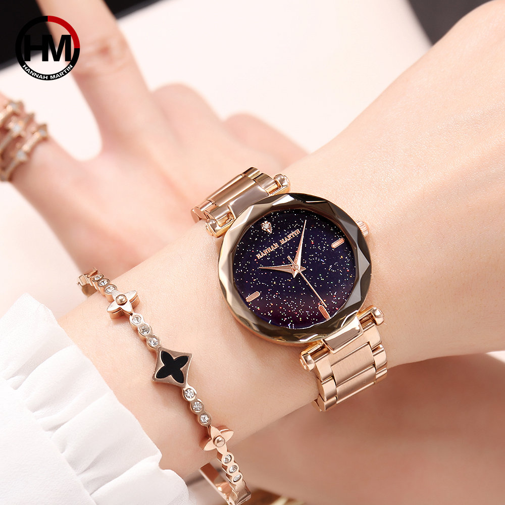 D2 NEW Japan Quartz Movement Fashion Luxury Star Dial steel Women Watches Ladies Fashion Famous Brand Jewelry Wrist Watch japan quartz movement men women unisex simple watch top brand luxury jewelry waterproof black nylon sport fashion wrist watches