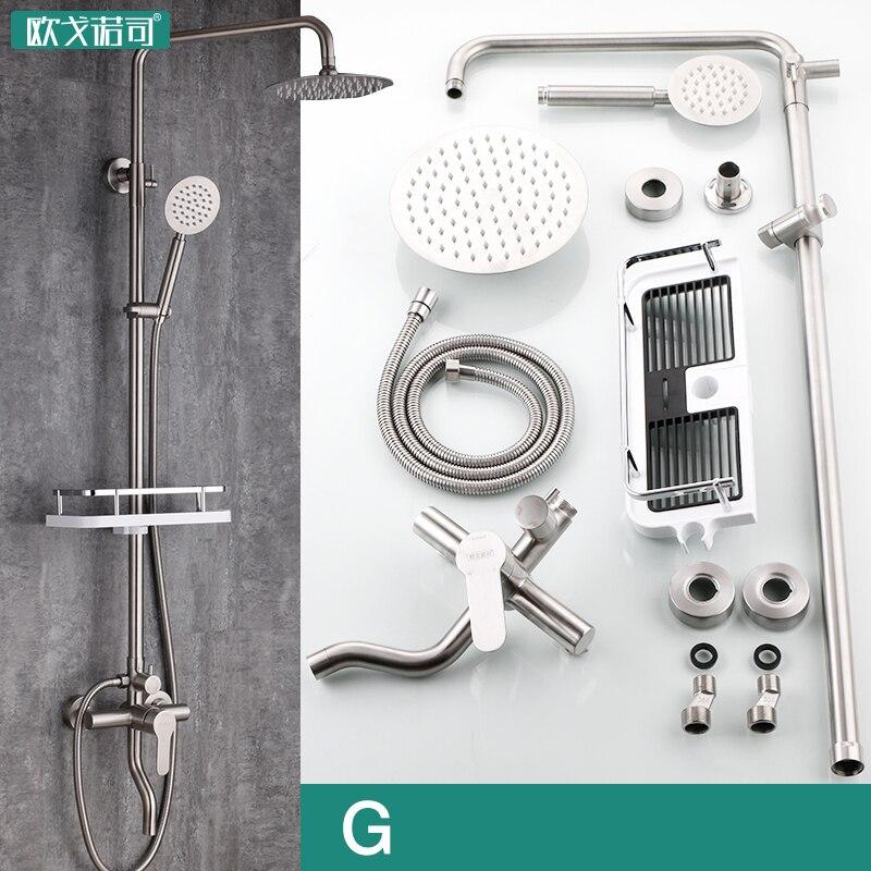 Salle de bains douche ensemble a pulvérisation pistolet à eau a main douche brossé surface 304 en acier inoxydable