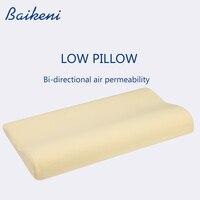 Almohada baja de 56*30CM para niños  almohada de espuma viscoelástica para cuello  almohada de protección para vértebras cervicales  almohada para cama  almohadas para dormir para niños