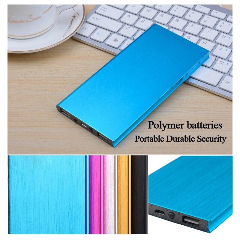 imágenes para Polímero ultra-delgado banco de la energía 10000 mah para iphone 5s 6 samsung powerbank cargador del teléfono móvil de la batería externa