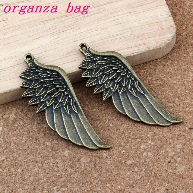 Купить подвески в виде крыльев ангела 50 шт/лот 22x56 мм античный бронзовый картинки цена