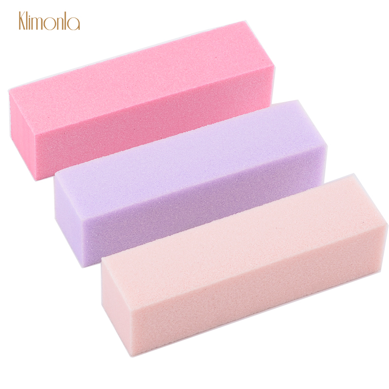 9pcs/lot Colorful Nail Buffer Files For UV Gel Nail File Sanding Polisher Block 4 Sides Nail Art Sponge Tips Manicure Care Tools