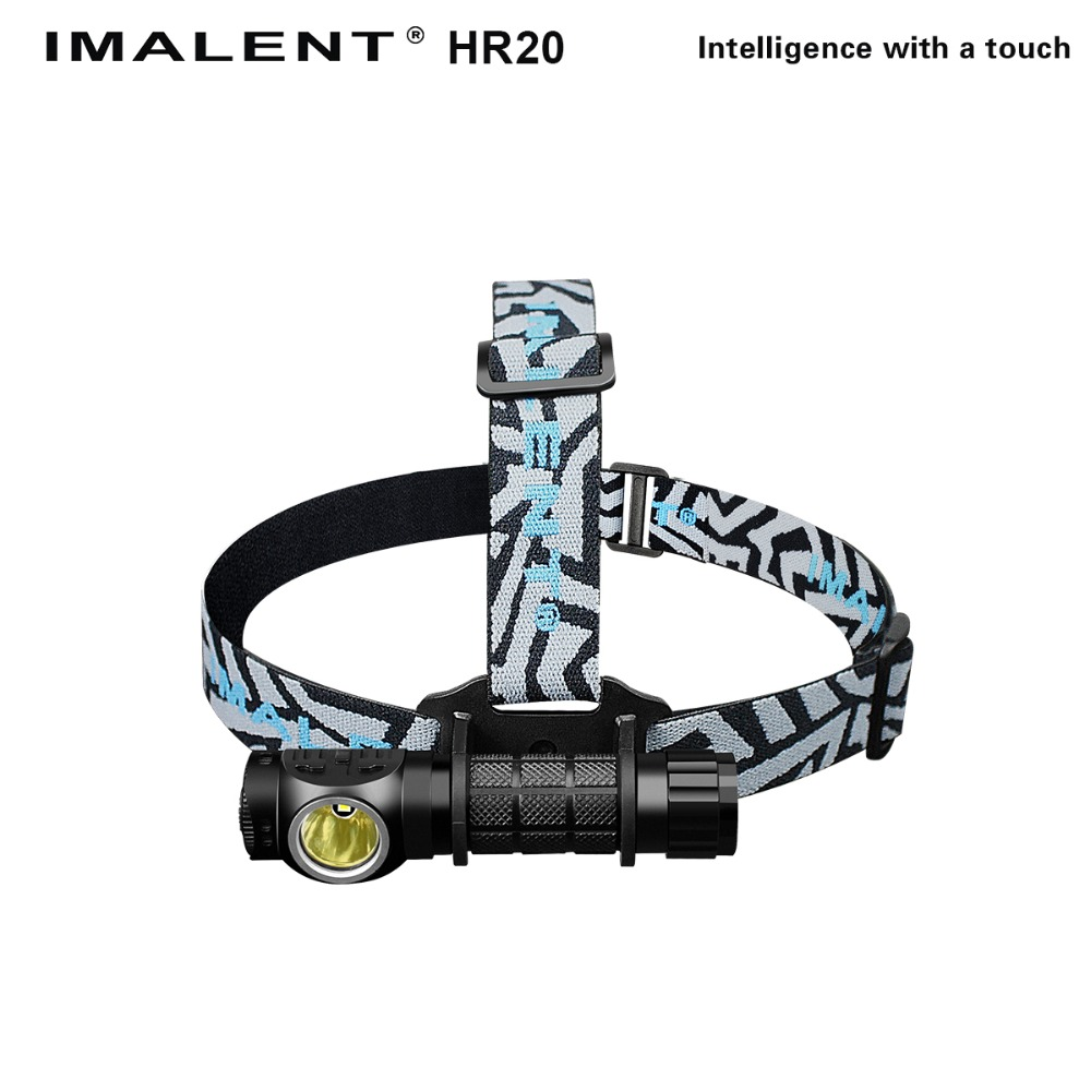 IMALENT HR20 Cree XP-L Flashlight Touch 1000lm Led Headlamp w/USB Charging Port Tactical Headlight by 18650 Battery Self Defense new klarus xt11gt cree xhp35 hi d4 led 2000 lm 4 mode tactical led flashlight free usb port and 18650 battey for self defence
