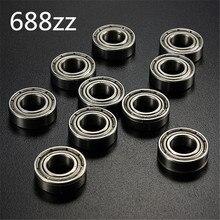 цена на 10Pcs/set 688zz Metal Bearings Sealed Deep Groove Radial Ball Bearing 8 x 16 x 5mm