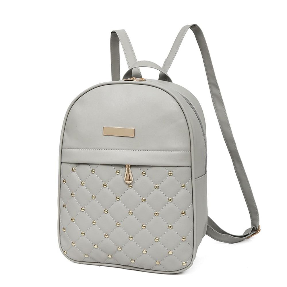 HTB1qy96LNnaK1RjSZFBq6AW7VXa4 OCARDIAN Woman packet Fashion Causal Bags Bead Female Shoulder Bag Backpacks Women Rivet Backpack dropship 19M12