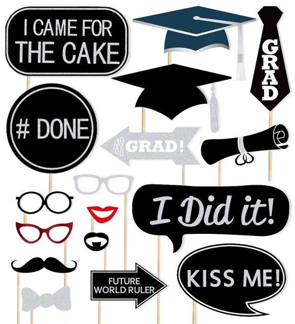 Rainlemon Tm Glitter 2017 Graduation Pary Photo Booth Props Kit In